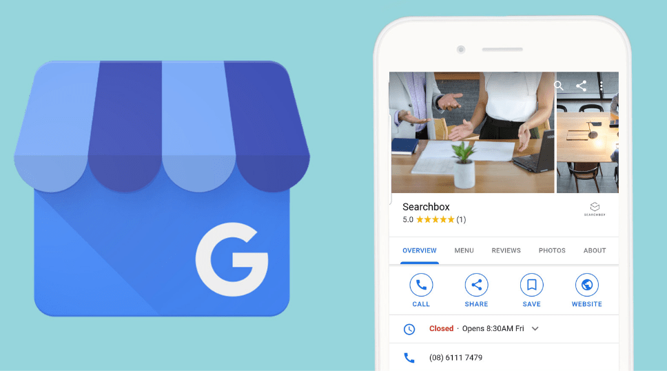 Picture of Google My business in Mobile
