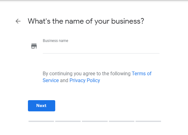 Enter Name of your business